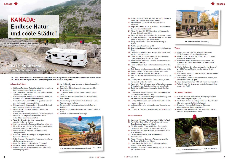 360° Kanada - Ausgabe 2/2017 (PDF-Download) - 360° medien shop