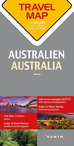 Australien Reisekarte - 1:4 Mio. Travel Map