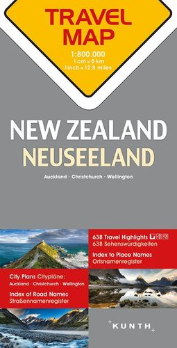 Neuseeland Reisekarte - 1:800.000 Travel Map
